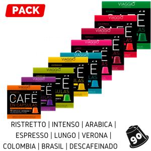 Pack 80 Cápsulas de Café Viaggio Espresso