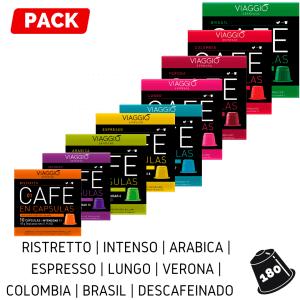 Cápsulas Nespresso - Pack 180
