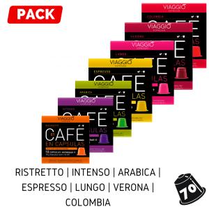 Cápsulas Nespresso - Pack 70