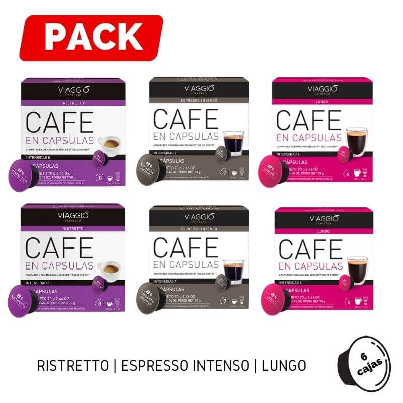 Pack Dolce Gusto 6 Ristretto Espresso Lungo